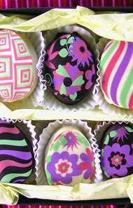 Groovy Chocolate Marshmallow Holiday Eggs 6 pc