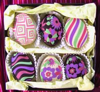 Groovy Chocolate Marshmallow Holiday Eggs 6 pc GIFT Basket